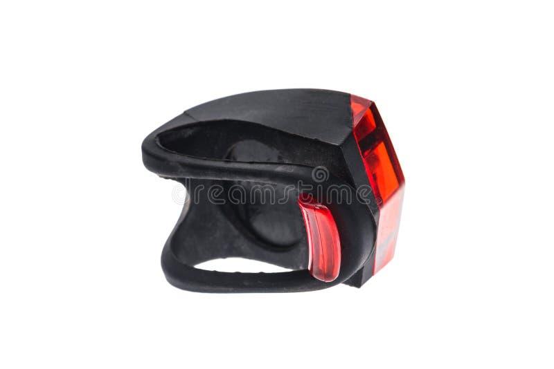 可拆的自行车安全红色眨眼睛尾巴LED光 库存照片