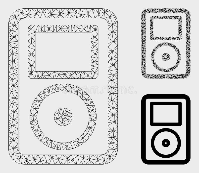 可携式媒体播放器传染媒介滤网第2个模型和三角马赛克象 皇族释放例证