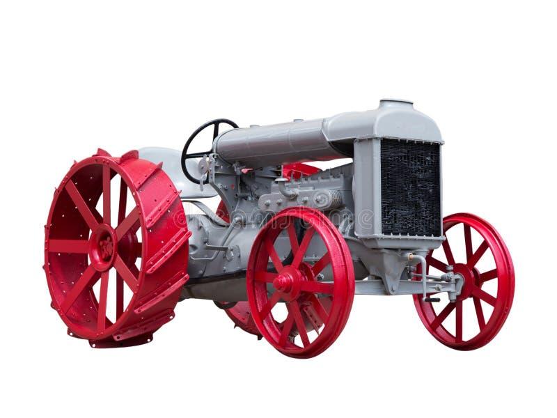 可收帐的古色古香的玩具拖拉机 免版税图库摄影