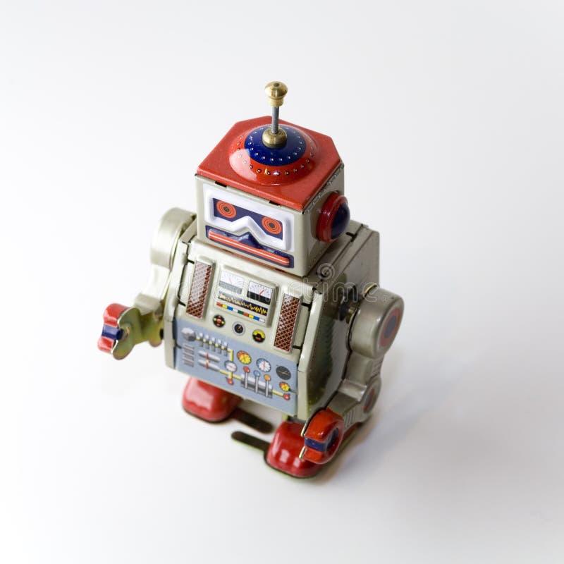 可收帐的钟表机械玩具机器人 库存图片