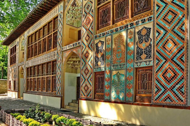 可汗的宫殿在Sheki  库存照片