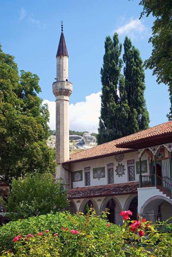 可汗的宫殿的看法在Bakhchisarai E 免版税库存图片