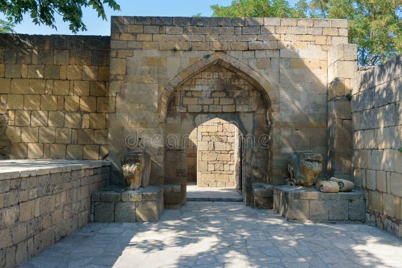 可汗` s宫殿在纳伦Kala堡垒 Derbent 库存照片