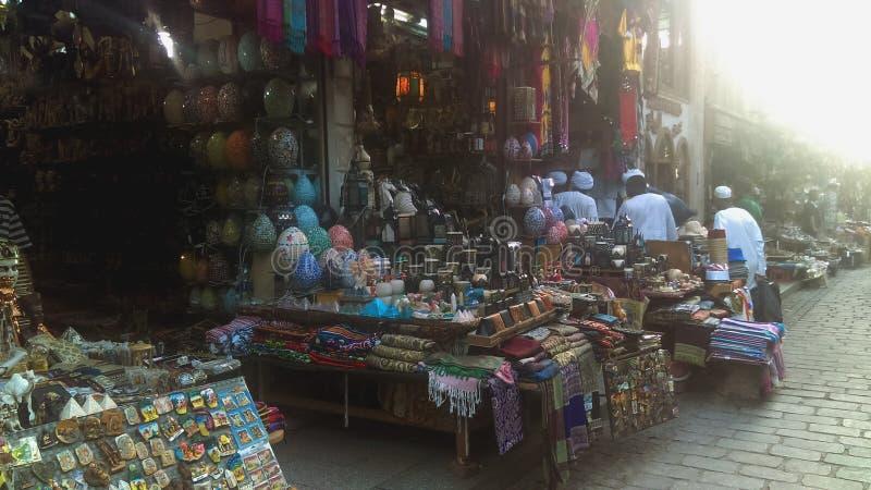 可汗AlKhalili市场市场在开罗埃及 库存照片