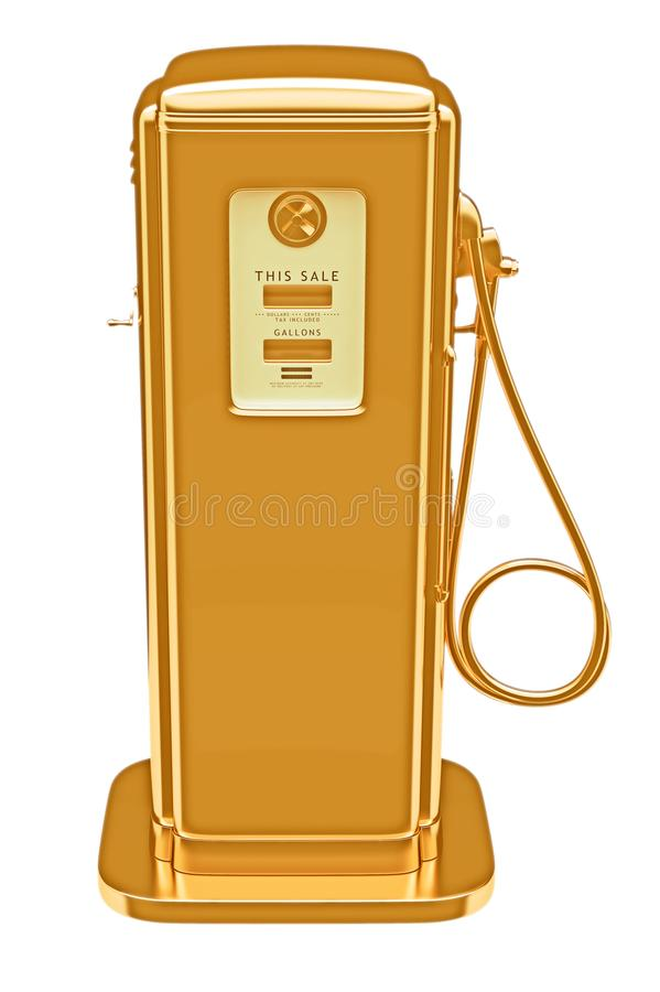 可燃气体金黄查出的泵贵重物品 向量例证