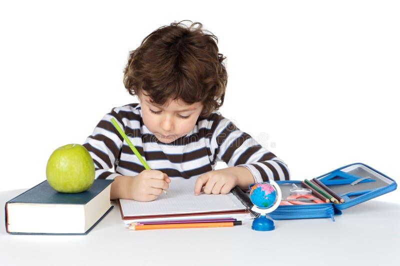 可爱儿童学习 免版税库存照片