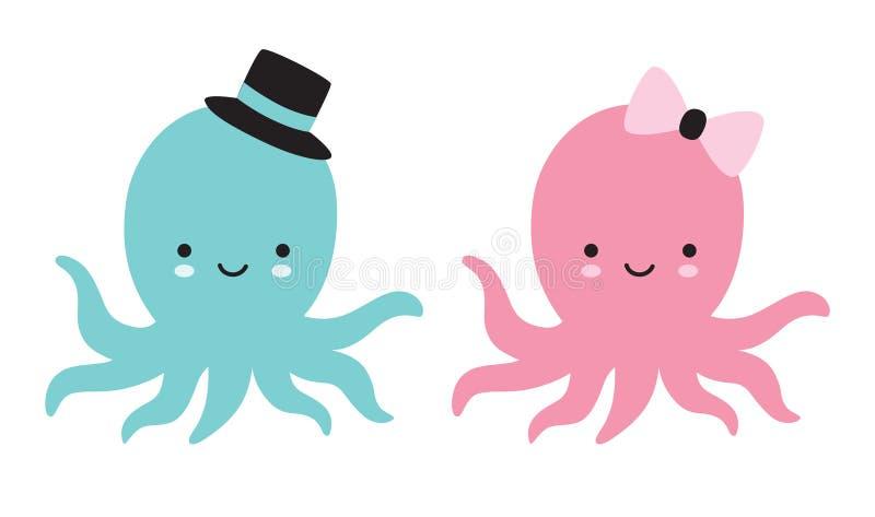 可爱宝贝章鱼传染媒介例证 库存例证