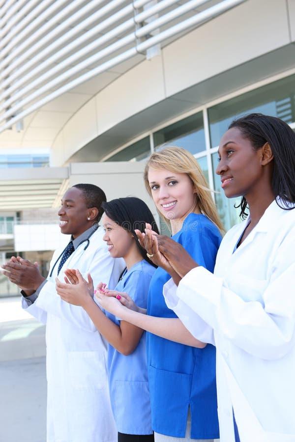 可爱的不同的医疗队 免版税库存图片