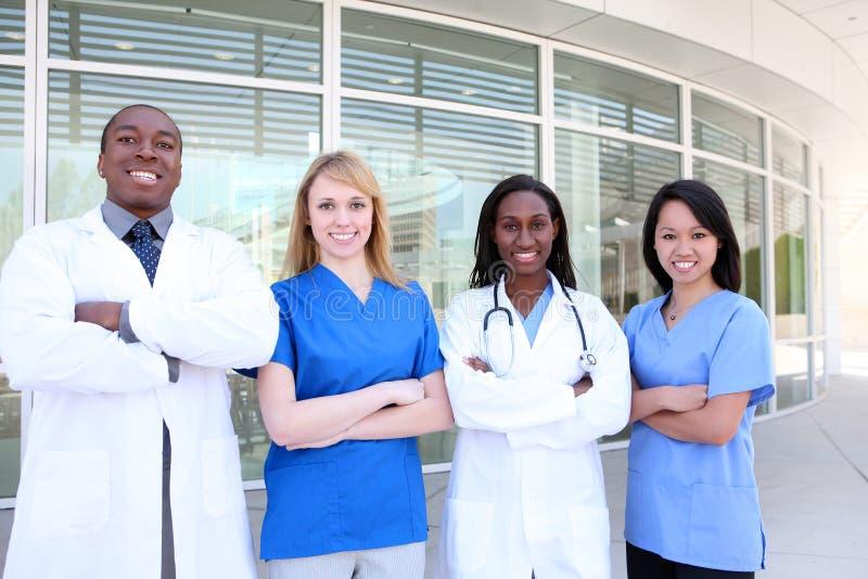 可爱的不同的医疗队 免版税库存照片