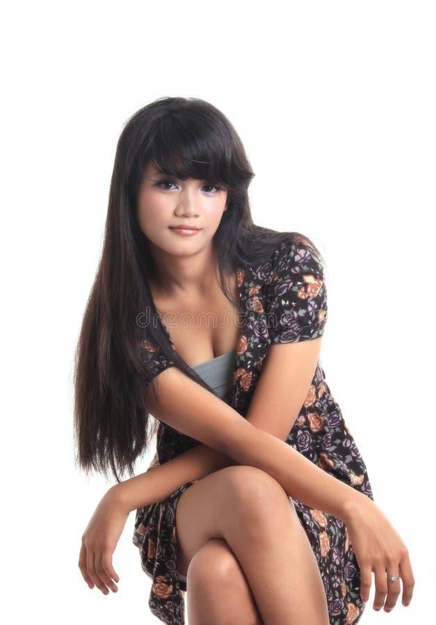 可爱的亚裔女孩 库存图片