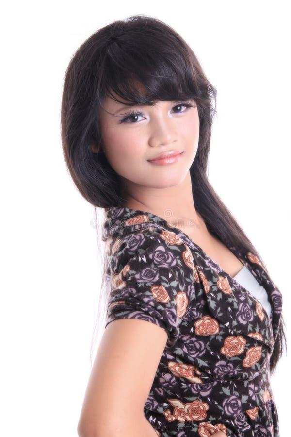 可爱的亚裔女孩 免版税图库摄影