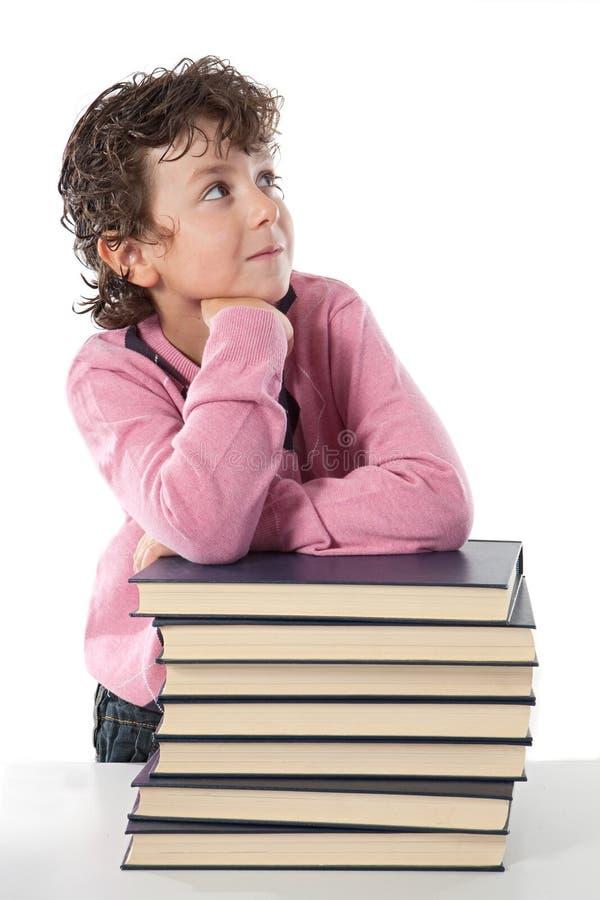 可爱的儿童学员 免版税库存照片