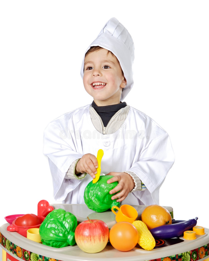 可爱的厨师远期 免版税库存照片