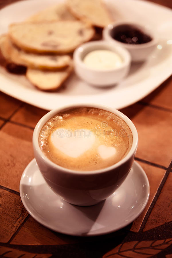 可爱的咖啡 免版税库存图片