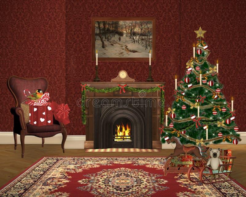 可爱的圣诞节例证 向量例证