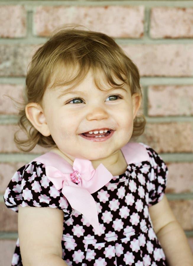 可爱的大女孩一点微笑 库存照片