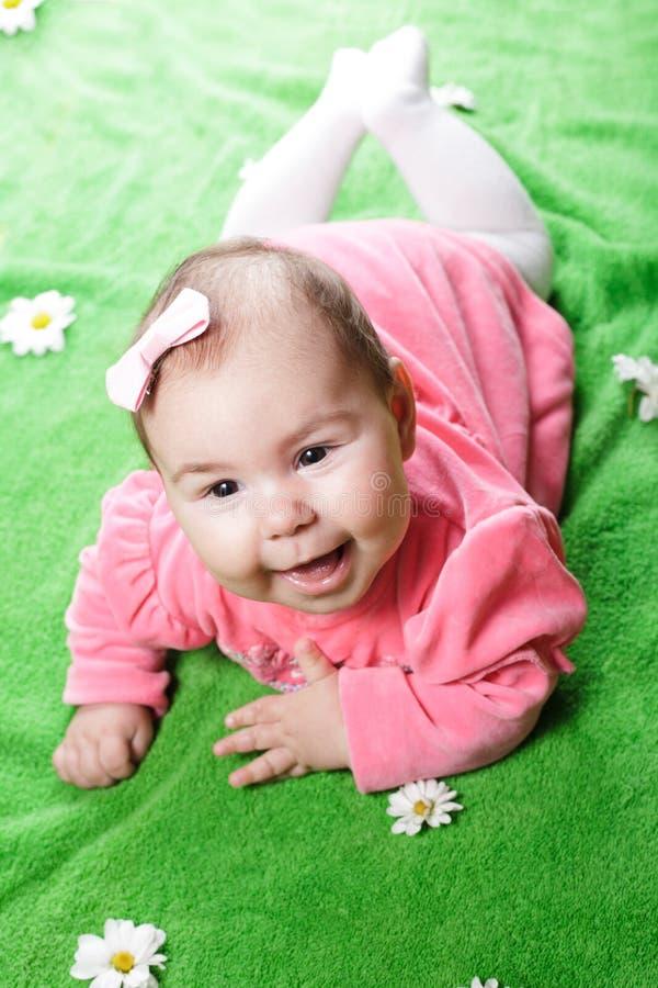 可爱的女婴 库存照片