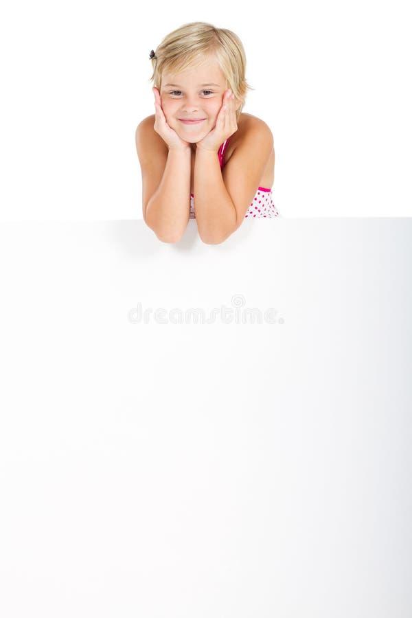 可爱的女孩一点 库存图片