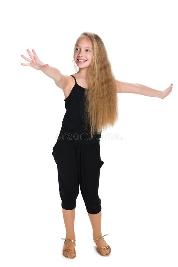 可爱的女孩愉快的年轻人 库存照片