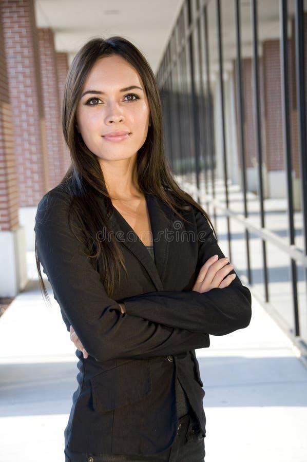 可爱的女实业家 免版税库存照片