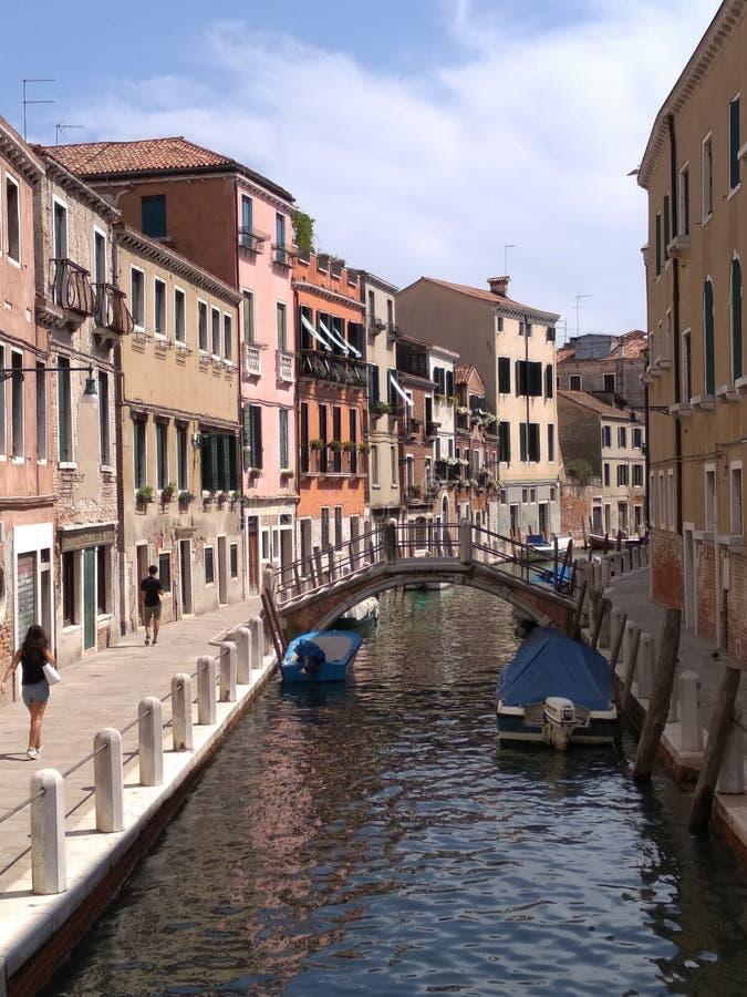 可爱的威尼斯下午 库存照片