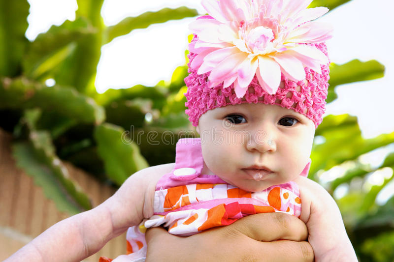 可爱的婴孩表面滑稽做 免版税库存图片