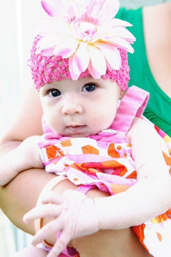 可爱的婴孩表面滑稽做 库存图片