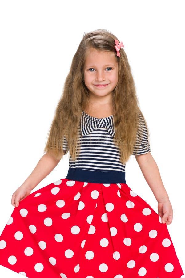 可爱的小女孩立场 免版税图库摄影