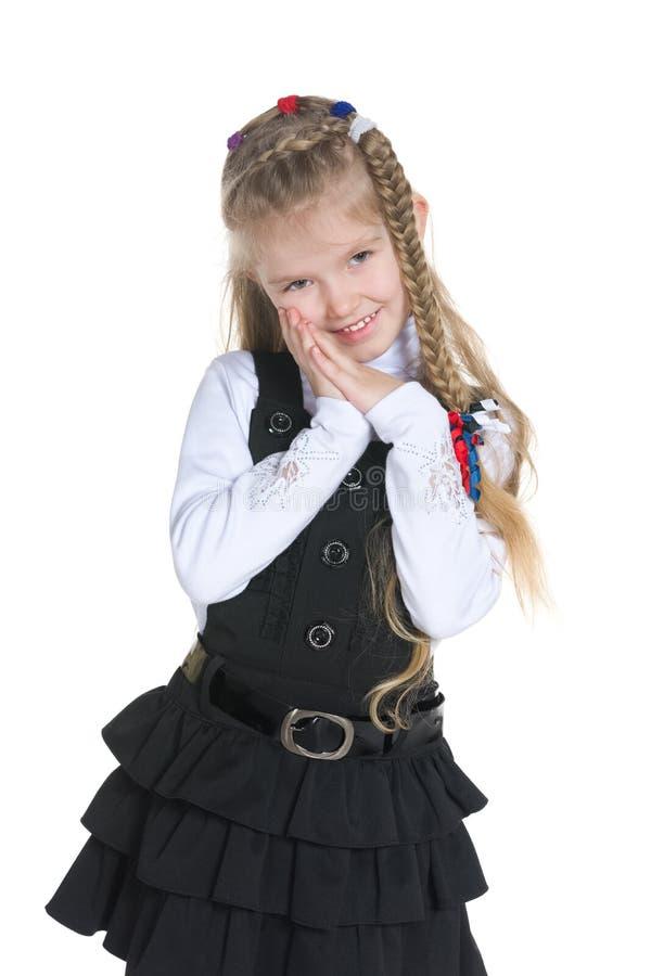 可爱的小女孩立场 免版税库存图片