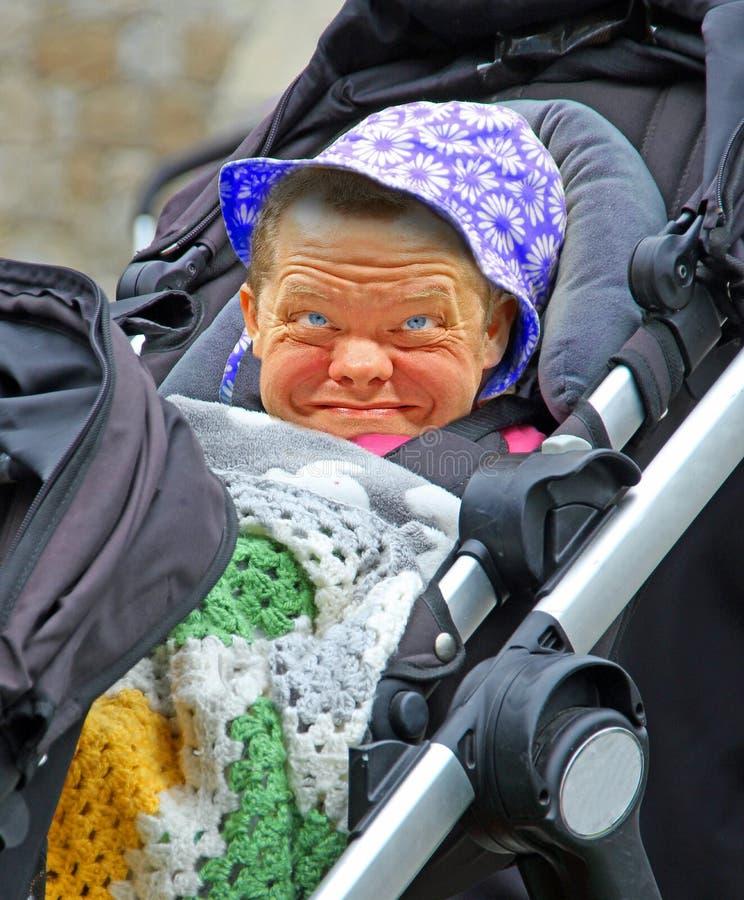可爱的小婴儿脸 库存照片
