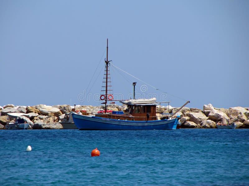可爱的小船 库存图片