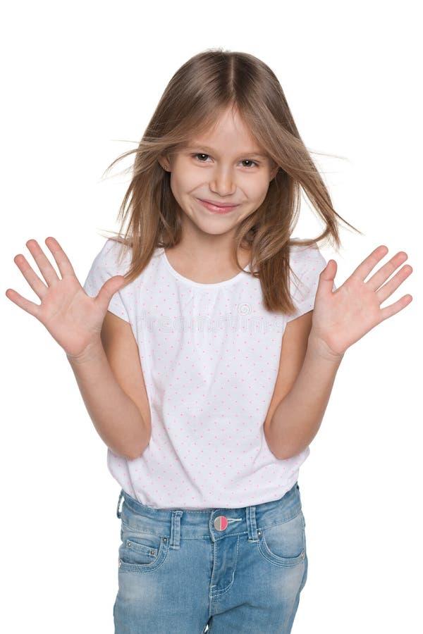 可爱的快乐的女孩 免版税库存照片