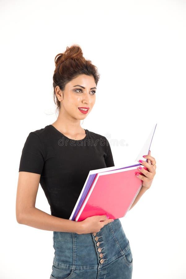 可爱的新女学生 免版税库存图片
