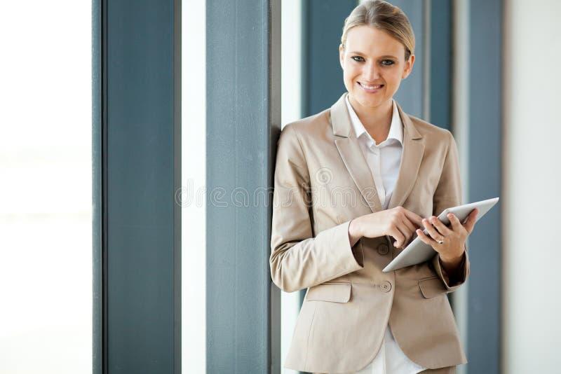 可爱的新女实业家 免版税库存图片