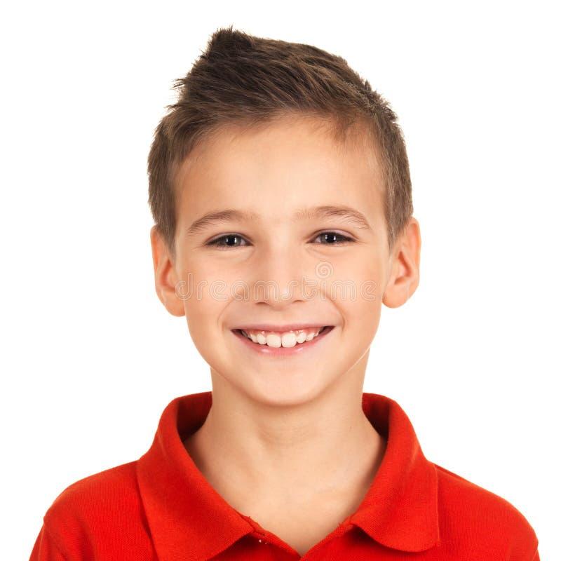 可爱的新愉快的男孩纵向  免版税库存图片