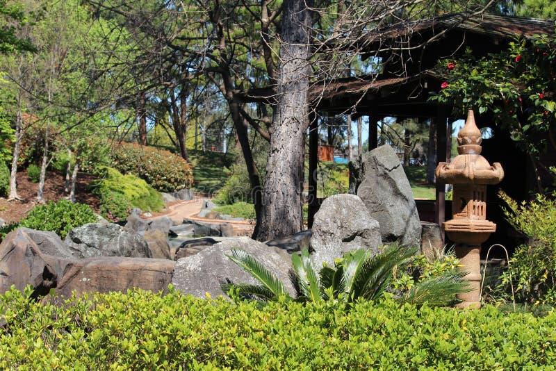 可爱的日本庭院 免版税图库摄影