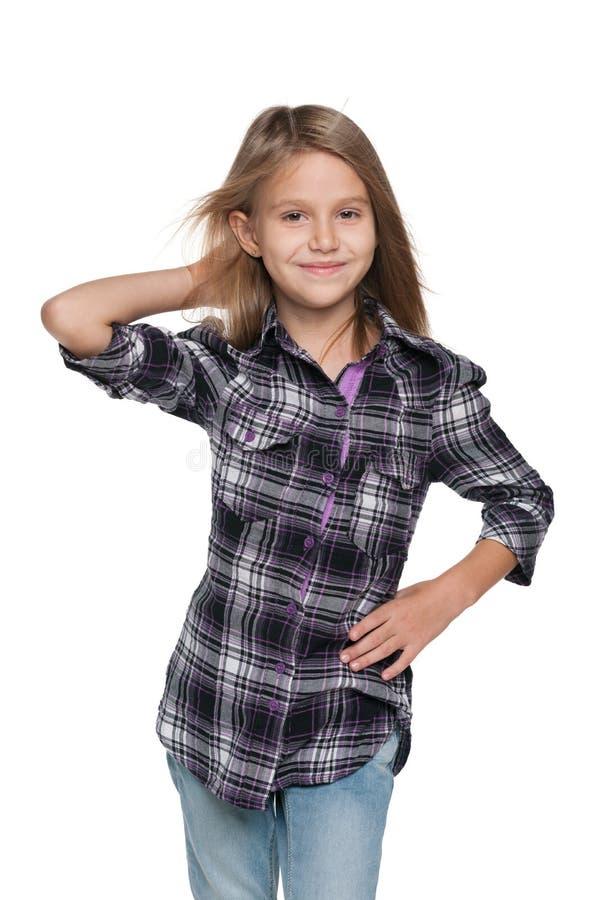 可爱的时尚女孩 免版税库存图片