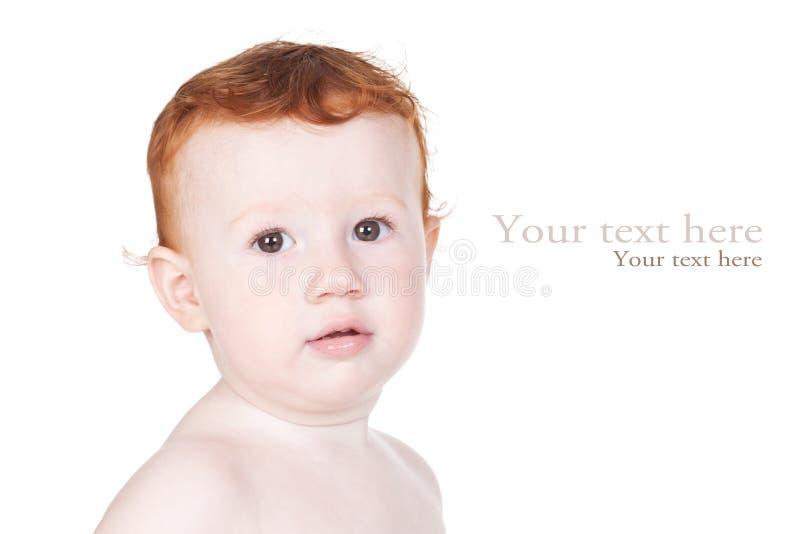 可爱的男婴明亮的特写镜头纵向 库存图片