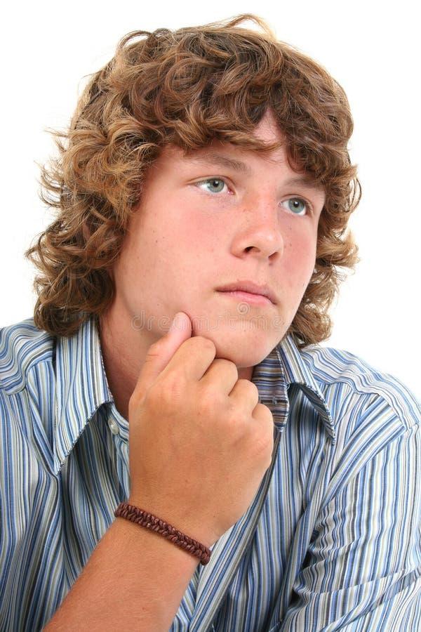 可爱的男孩老十六青少年的年 库存图片