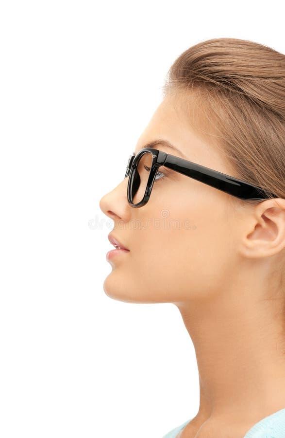 可爱的眼镜妇女 库存图片