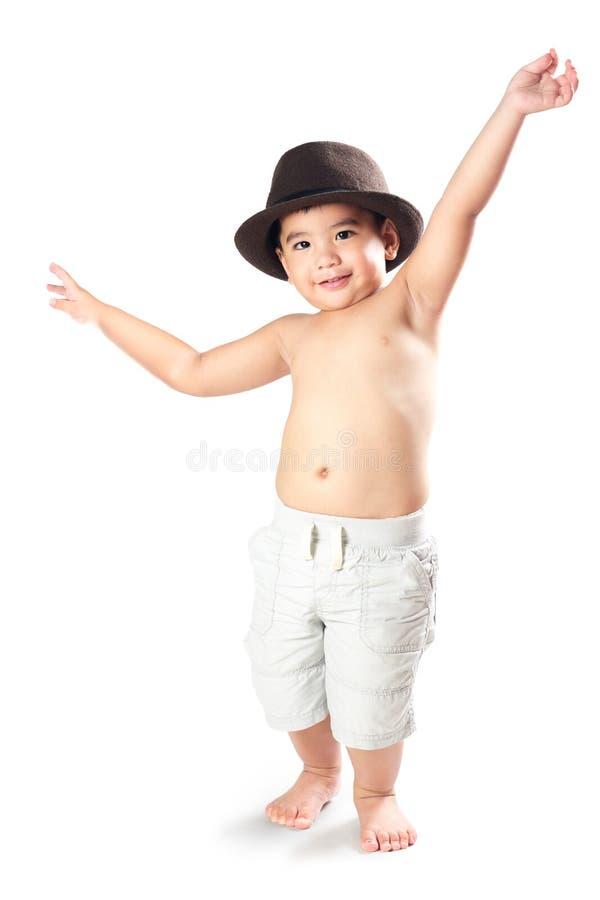可爱的矮小的亚裔男孩 库存图片