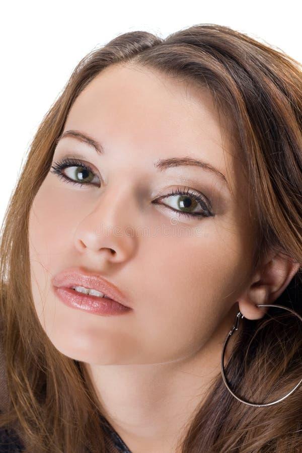 可爱的纵向妇女年轻人 库存图片