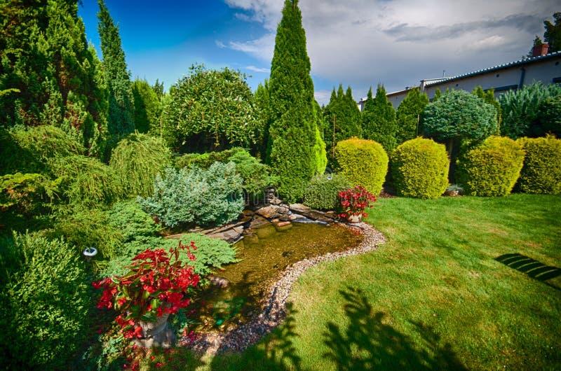 可爱的绿色庭院 免版税库存照片