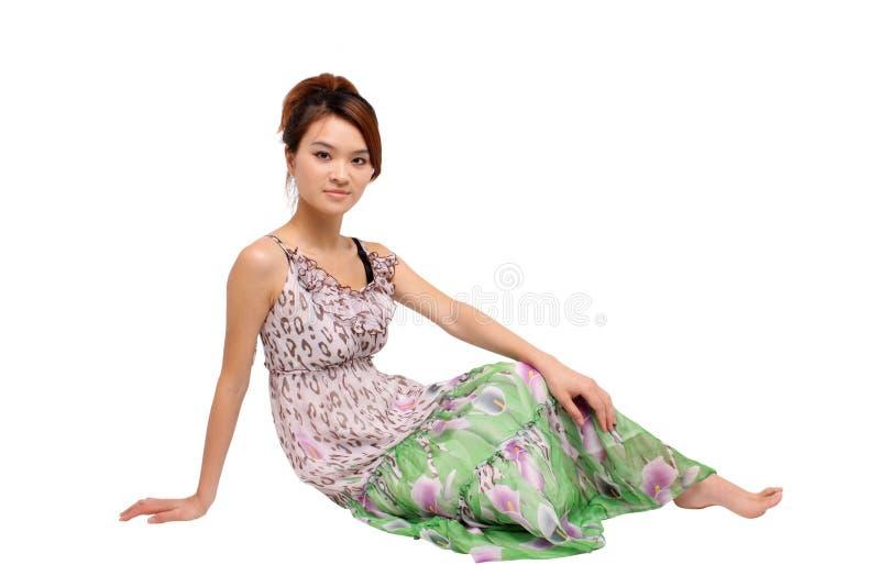 可爱的年轻亚裔妇女 免版税库存照片