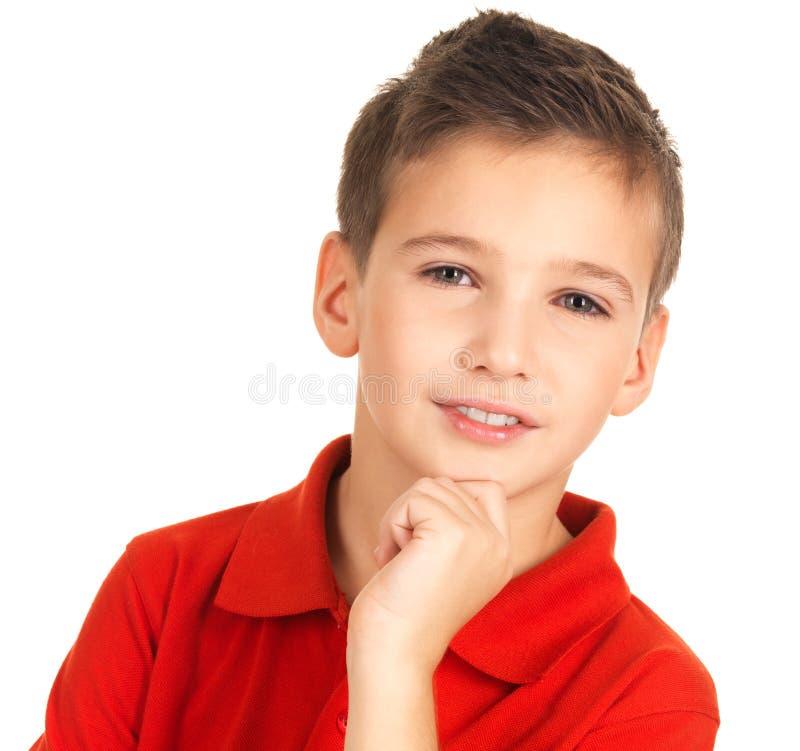可爱的年轻男孩的面孔 免版税库存图片