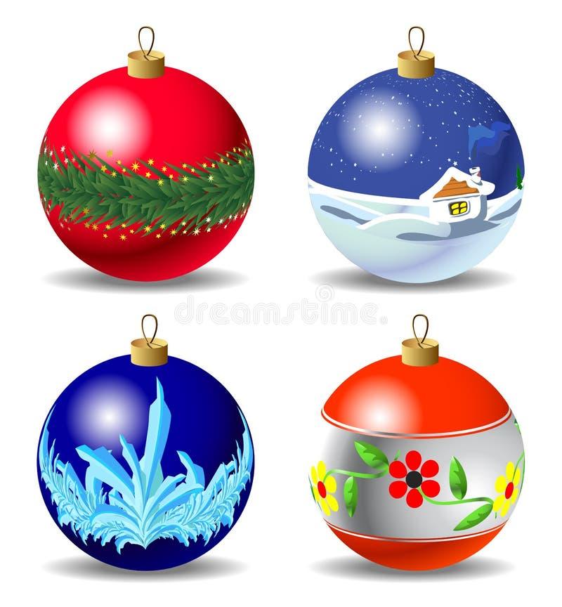 可用的中看不中用的物品圣诞节eps8格式jpeg集 皇族释放例证