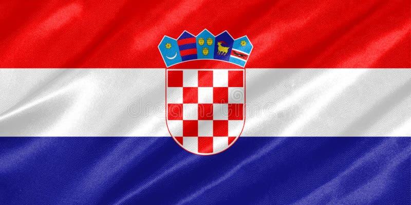 可用的克罗地亚标志玻璃样式向量 库存例证