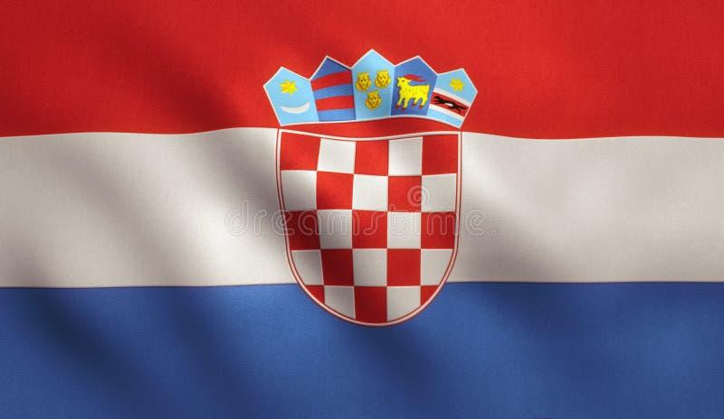 可用的克罗地亚标志玻璃样式向量 皇族释放例证