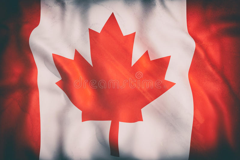 可用的加拿大标志玻璃样式向量 库存例证