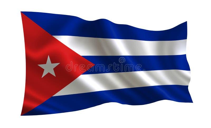 可用的古巴标志玻璃样式向量 世界的一系列的`旗子 国家-古巴旗子 库存例证